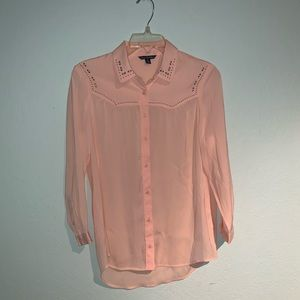 AEO Blush Button Down